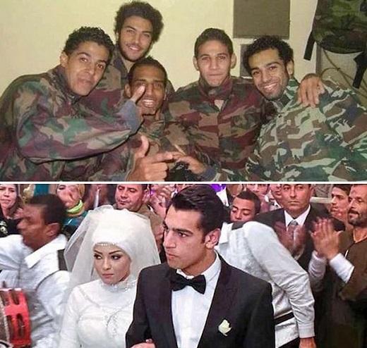 عکسی از دوران سربازی و مراسم ازدواج محمد صلاح