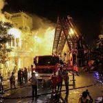 عملیات 8 ساعته برای مهار آتش سوزی پاساژ امیرکبیر تهران