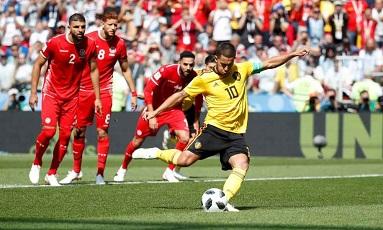 پیروزی قاطع بلژیکی ها مقابل تونس در جام جهانی