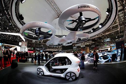 توسعه تاکسی و خودروهای پرنده ایرباس و آئودی در آلمان
