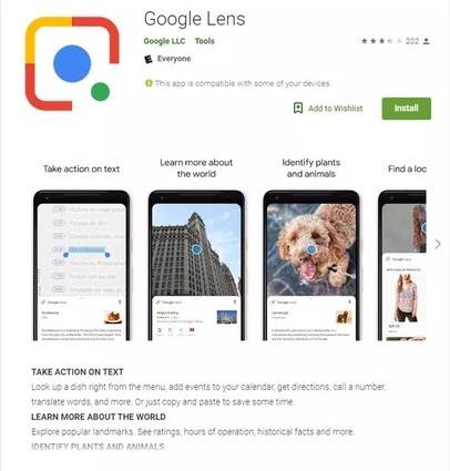 ارائه اپلیکیشن گوگل لنز در پلی استور