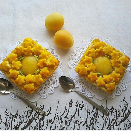 آموزش طرز تهیه تارت زردآلو و بادام