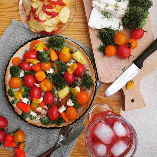 آموزش طرز تهیه تارت مرغ و سبزیجات