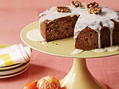 آموزش نحوه پخت کیک خرما و گردو