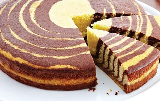 آموزش طرز تهیه کیک وانیلی دو رنگ