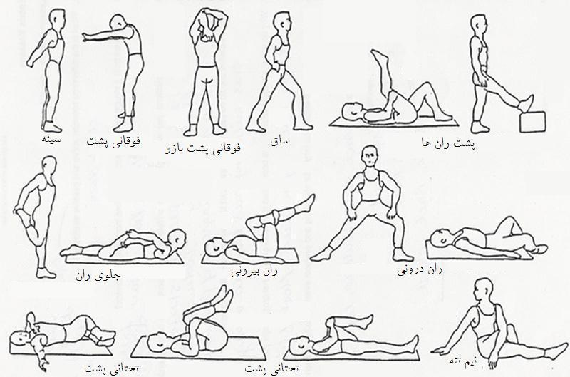 نیم ساعت ورزش در خانه حرکات کششی