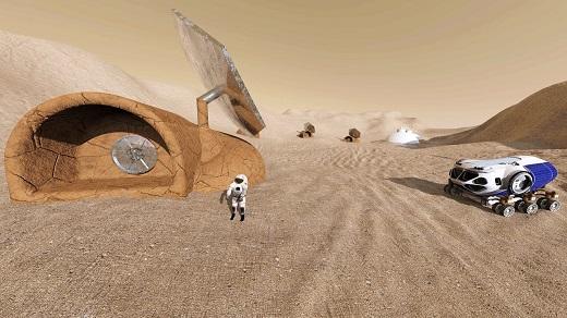 ساخت و ساز خانه سه بعدی در مریخ