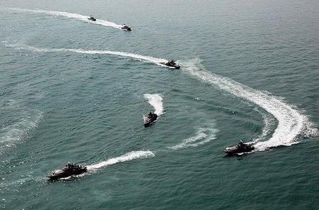 رزمایش دریایی سپاه در خلیج فارس