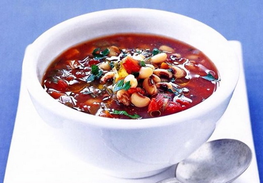 آموزش طر تهیه سوپ لوبیا چشم بلبلی