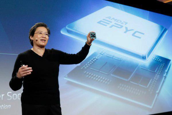 AMD از پردازنده ۷ نانومتری اپیک روم با 64 هسته رونمایی کرد
