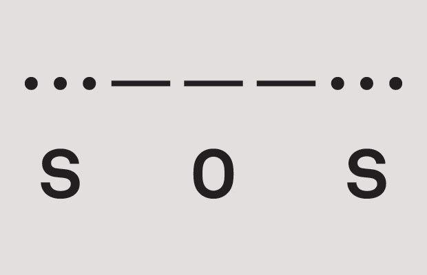SOS کوتاه شده کلمات Save Our Ship یک کد مورس پیام اضطراری است