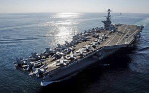 ناو هواپیمابر آمریکا در بزرگترین رزمایش نظامی ژاپن