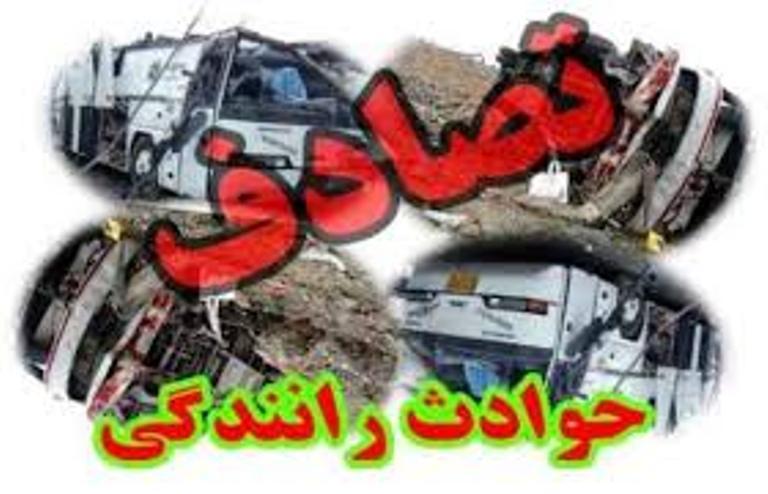 9 نفر مصدوم در تصادف اتوبوس با تریلر در محور کرج-قزوین