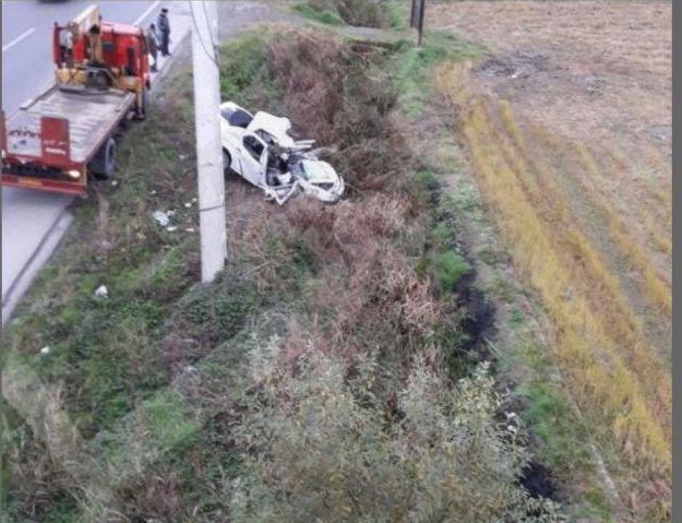 مرگ 2 نفر بر اثر واژگونی خودرو