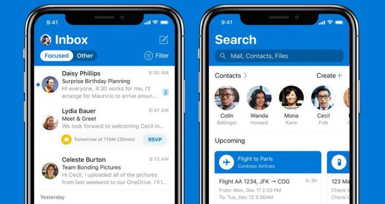 اپلیکیشن Outlook با رابط کاربری جدید برای سیستم عامل iOS عرضه شد