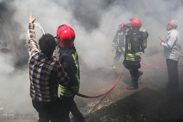 آتش سوزی یکی از مدارس خرمشهر